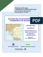 Estudio Del Plan Nacional de Transporte en Nicaragua - Inventario de La Red Vial de Los Puertos y Aeropuertos (Vol.3)