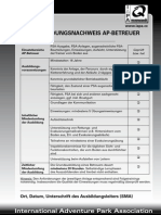 IAPA Zertifizierungsbogen Betreuer