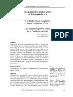 Uma Perspectiva Poética-crítica Da Psicologia Da Arte 2012