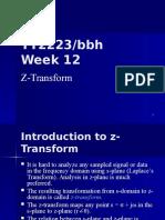 TT2223 Week 12a Z-Transform