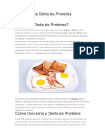 Cardápio Da Dieta Da Proteína