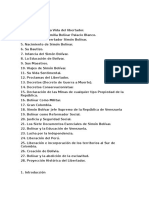 Biografia de Bolivar
