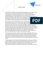(DRAFT) Director's Journal