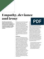 Empathy, Deviance and Irony