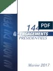 Les 144 engagements présidentiels de Marine le Pen