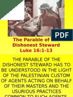 25th ot dishonest steward god mammon