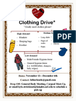 H4H Clothing Drive Flyer