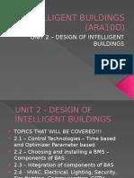 Unit 2 - Design of Intelligent Buildings
