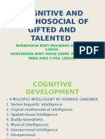 Cognitive and Psychosocial of Gifted and Talented