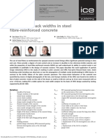 Estimating crack widths in steel fibre-reinforced concrete