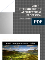 Unit 1 – Introduction to Architectural Profession