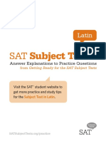 Subject Tests Answer Explanations Latin
