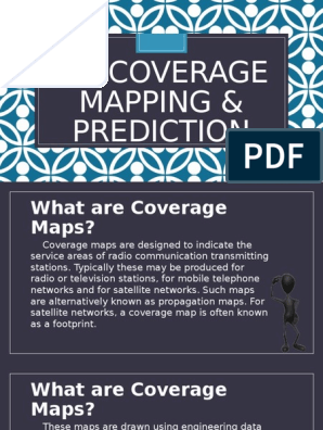 AM Coverage Mapping & Prediction (4th Report by Pedrosa
