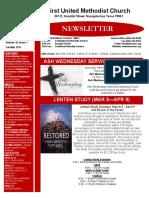 Newsletter Feb-Mar 2017