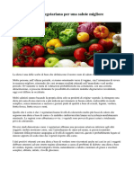 Vantaggi Della Dieta Vegetariana