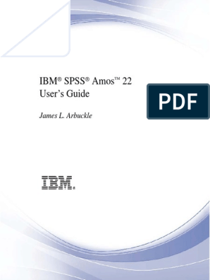 SPSS Amos User Guide 22 | Covariance Matrix | Bayesian Inference