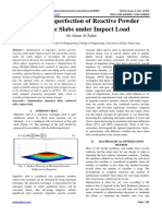 Optimal Imperfection of Reactive Powder Concrete Slabs Under Impact Load