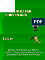 Prinsip Dasar Surveilans Epidemiologi