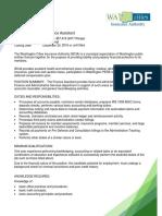 Finance Assistant Job Announcement