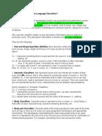 classifier worksheet