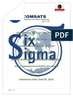 Summary Six Sigma