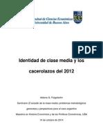 Identidad de Clase Media y Los Cacerolazos Del 2012