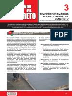 Temperatura Maxima de Colocacion Del Concreto- Cme
