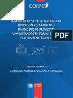 Instrucciones Operativas Para Las Rendiciones de Gastos Proyectos Administrados Por Beneficiarios