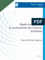 Règles Budgétaires Et Soutenabilité Des Finances Publiques
