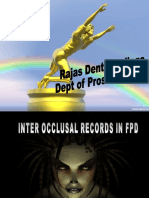 Inter Occlusal Records in Fpd