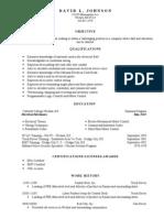 Jobswire.com Resume of DAVIDLJOHNSON51