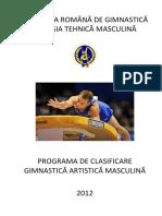 Programa de Clasificare Gimnastica Artistica Masculin 2012