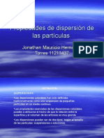Propiedades de Dispersión de Las Partículas
