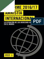Informe Amnistía Internacional 2016/2017