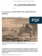 A Aventura Dos Jesuítas No Brasil
