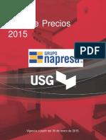 Lista de Precios Ligeros USG 2016