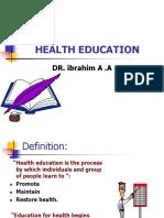 Health Educationn