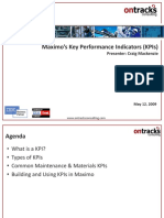 MAX013 Maximos Key Performance Indicators