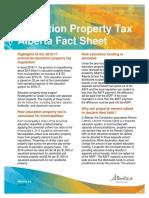 Education property tax Alberta Fact Sheet