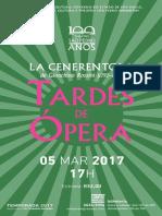 Programa de Sala | Tardes de Ópera | La Cenerentola (05/03/17)