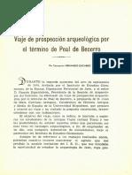 3 - 1953 Viaje de Prospección Arqueológica Por El Término de Peal de Becerro - Concepción Fernández-Chicharro y de Dios