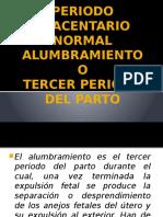 Periodo Placentario Normal Alumbramiento