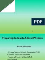 A level teaching