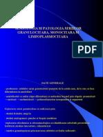 Semiologia Si Patologia Seriilor Granulocitara Monocitara Si Limfoplasmocitara