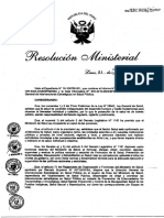 Reglamento de La R.M. N980-2016-MINSA