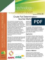 Crude Fat Determination - Soxhlet Method - 1998.pdf