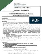 2017 Cartel Ayudantes COMPLEMENTARIO Curso Introductorio Inglés