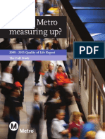 Metro Quality of Life report