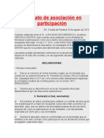 Contrato de Asociación en Participación