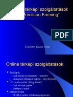 """Online térképi szolgáltatások és a """"Precision Farming"""""""